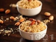 Панджири - варено жито с пудра захар, канела и смлени бадеми
